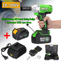 NEW 18 108V Cordless Impact Wrench Power Drills Hammer High Torque 2 Li ion Battery With LED Light Power Tools Drill