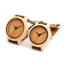 2016 Original BoBoBird Amantes de la Marca de reloj de Cuarzo Reloj de Madera De Bambú Relojes Correa de Cuero Real para Los Hombres y Las Mujeres con el Regalo caja