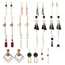 Korean Style Girl Earrings Geometric Tassel Pendant Earrings Female Fashion Pearl Earrings Wedding Party Cute Jewelry цена 2017
