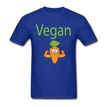 Carrot Vegan Power T-shirt Men Boy Geek Custom Short Sleeve Big Size Couple Tshirt