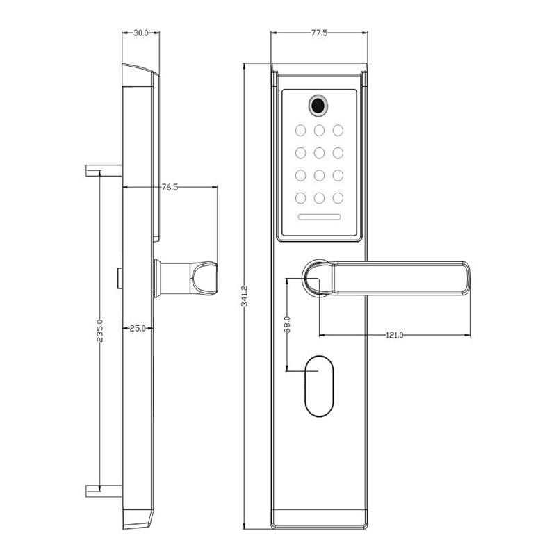 HTB19otqVSzqK1RjSZFjq6zlCFXau YOHEEN Smart Biometric Fingerprint Lock with Digital Password RFID Card Key Electronic Smart Fingerprint Door Lock