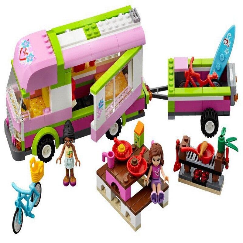 Бела 10168 подруг Приключения Camper рисунок Конструкторы образования Строительство Игрушечные лошадки для детей Совместимые legoe