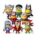 8 шт. 3D Миньоны фигурку игрушки 2016 Новый Локи мстители и супергерои Капитан Америка щит Ironman Халк Тор figuras
