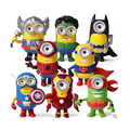 8pcs 3D Minions the avengers and superheroes action figure toy  2016 New Loki Captain America shield  Ironman Hulk Thor figuras