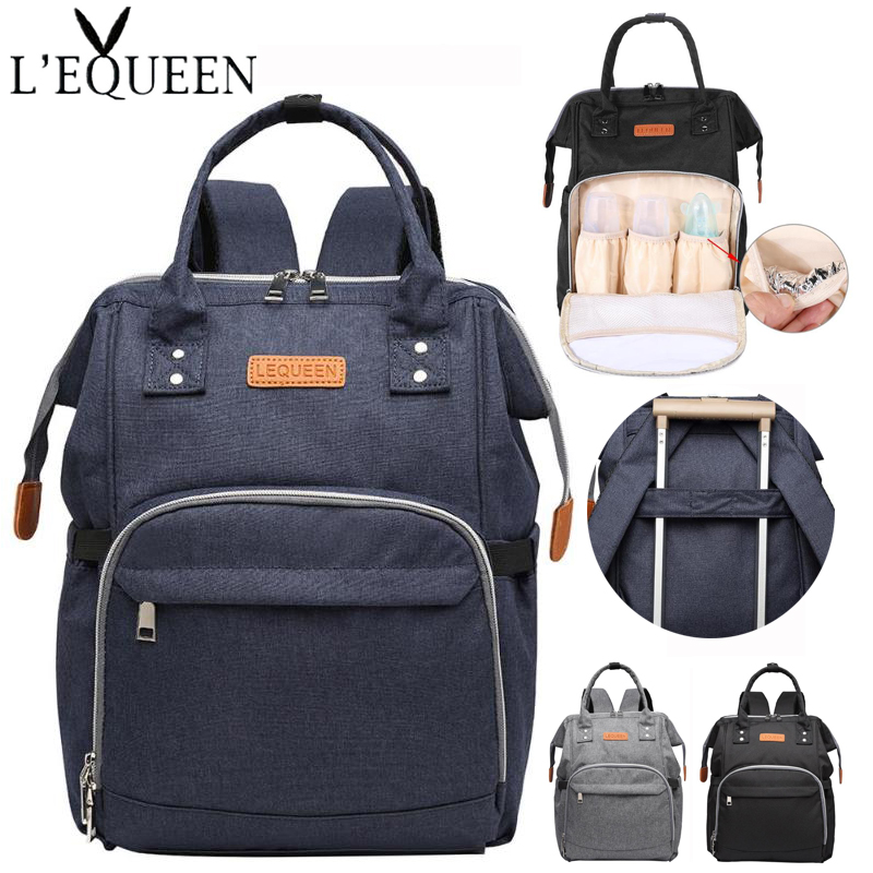 Brand Baby Diaper Bag Backpack Fashion Large Capacity Mummy Maternity Bag for Mother Brand Mom Backpack Nappy Changing Bags diaper bag fashion mummy maternity nappy changing canvas brand backpack for mom traveling organizer waterproof bags baby care