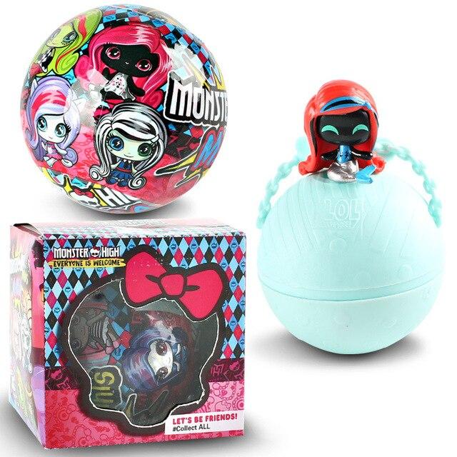 Monstro Dos Desenhos Animados LOL Bonecas surpresa boneca Draculaura/Clawdeen Wolf/Frankie Stein/Preto WYDOWNA brinquedos para as crianças presentes bonecas