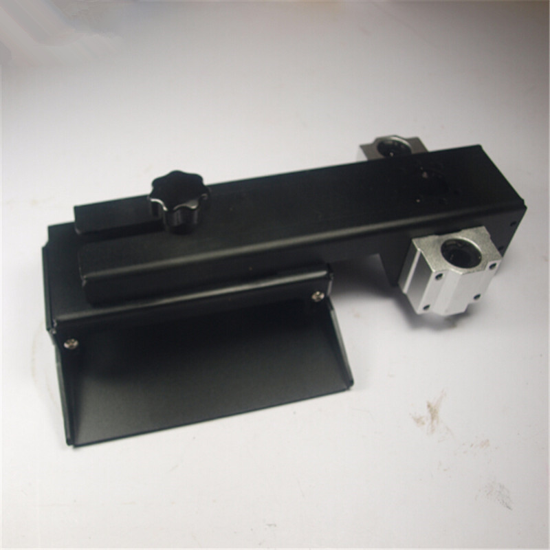 A Funssor   black anodized Z axis build plate Form Z axis aluminum build platform kit For DLP SLA 3D printer