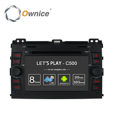 Ownice c500 4g lte sim octa 8 core android 6.0 dvd del coche para Toyota Land Cruiser Prado 120 2002-2009 GPS Navi Radio 32G ROM