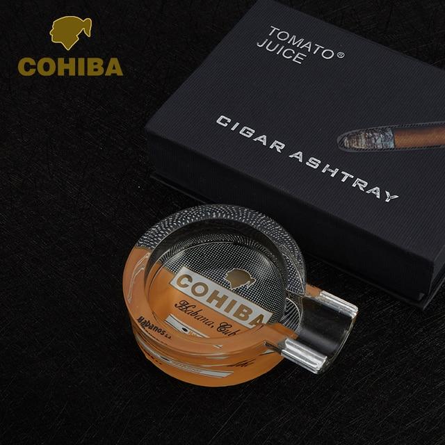 COHIBA Special Pocket Cigar Ashtray Car Ash tray Smoking Cendrier 1 Rest 1 Ash Slot Cigar Cigarette Single Holder Men Present
