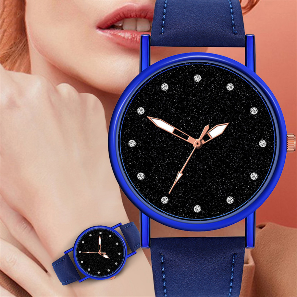 Luxury Minimalist Women's Watches Diamond Quartz Wrist Watch Reloj Mujer Ladies Clock Leather Band Analog New Dropshipping