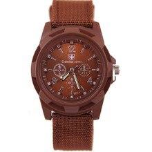 2016 New Fashion Solider Military Army Men's Sport Style Canvas Belt Luminous Quartz Wrist Watch 5 Colors