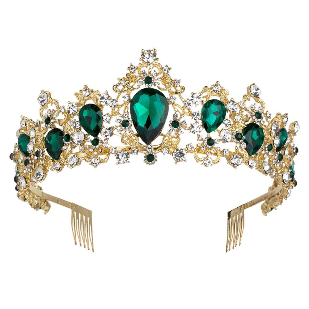 KMVEXO Luxury Colorful Crystal Bridal Tiaras Crown 2019 New Wedding Marriage Rhinestone Diadem Pageant Brides Crowns with Combs