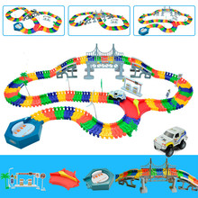 5.5cm rail car toy Magic racing tracks car DIY universal accessories for magic track educational toys children's birthday gifts