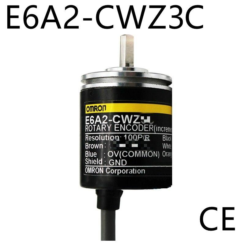 E6A2CWZ3C OMRON Rotary Encoder E6A2-CWZ3C 500 400 360 200 100 60 50 40 30 20 10P/R 5-12v CE nib rotary encoder e6b2 cwz6c 5 24vdc 800p r