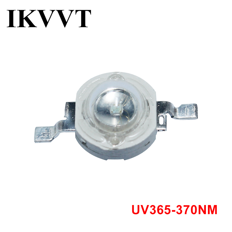 IKVVT UV Pure Led Chips 365-370nm Haute Puissance COB High Power Ultraviolet High-quality Light 1W 3W 10W 20W 30W 50W 100W