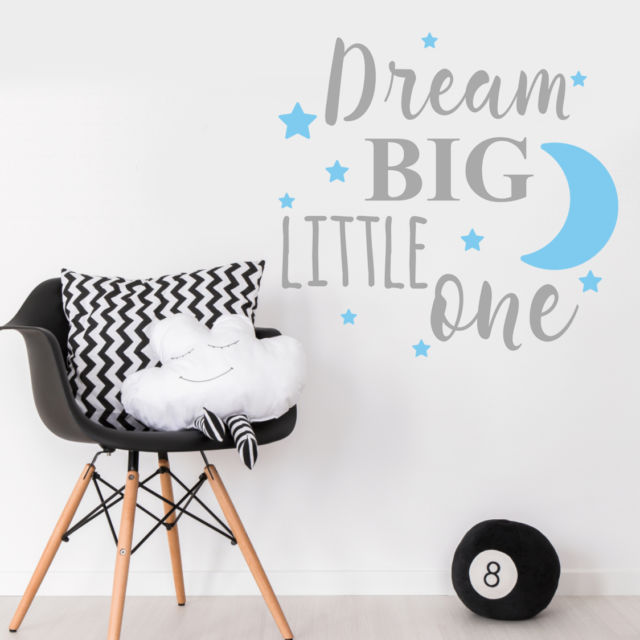 droom grote kleintje citaat muurtattoo baby meisje nursery slaapkamer tekst muursticker e co vriendelijke vinyl behang diy decals la726 in droom grote