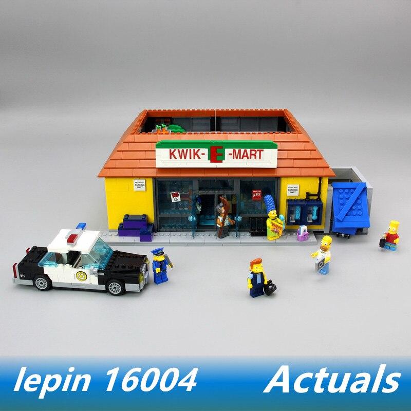 LEPIN 16004 lepin simpsons legoing simpsons 71016 house KWIK-E-MART Action Model Building Block Bricks конструктор lepin creators simpsons магазин на скорую руку 2220 дет 16004