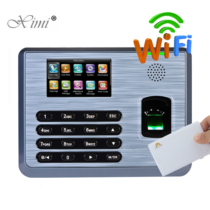 ZK Linux System TCP/IP WIFI Biometric Fingerprint Time Attendance With 13.56MHZ MF Card Reader TX628 Fingerprint Time Clock