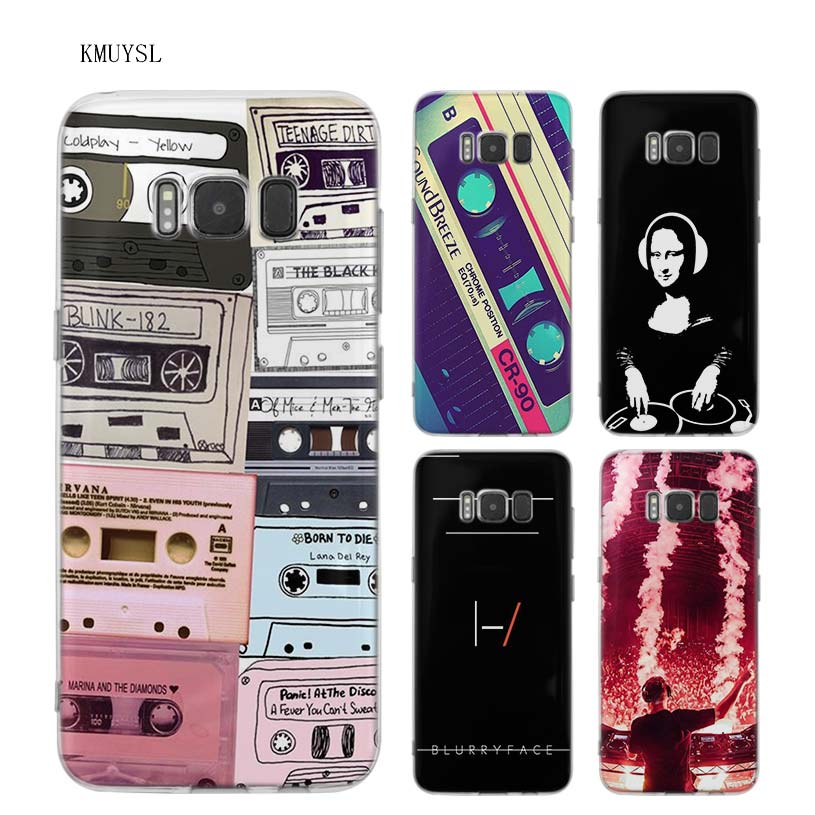 KMUYSL dj music art TPU Transparent Soft Case Cover Shell Coque for Samsung Galaxy S9 S8 Plus S7 S6 Edge