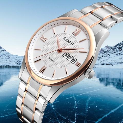 2019 Fashion Men Business Wrist Watch Golden Mens Watches Top Brand Luxury SKMEI Men Quartz Watch Male Watches Relogio Masculino Karachi