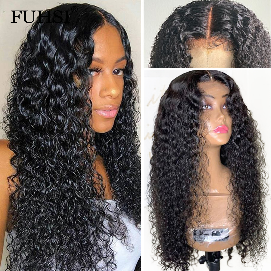 360 Lace Frontal Human Hair Wigs For Black Women Curly Glueless Brazilian Remy Hair Lace Wig