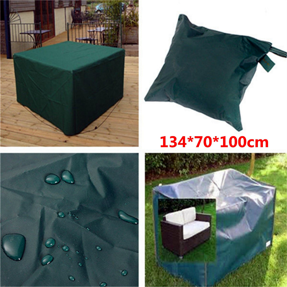 Hot Sale Waterproof 134*70*100cm Outdoor Furniture Cover Garden Patio Coffe  Table Desk