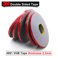 3M double sided tape/3M VHB 4991 acrylic adhesive/Outstanding durability performance/ 12mm*16.5m*5rolls/we can offer other size