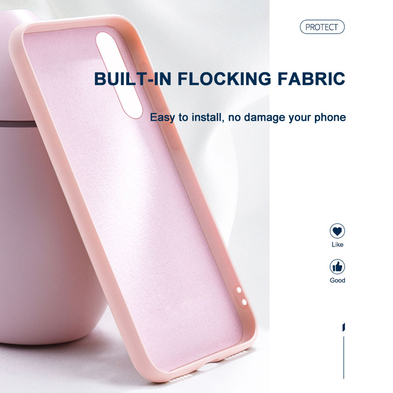 Huawei P30 Pro Liquid Silicone Case Full Protector Cover For Huawei P30 Lite Anti knock Phone Case Business Soft Cover in Fitted Cases from Cellphones Telecommunications