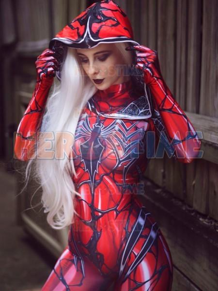 Carnage Gwen Spider Female Red Tight Gwen Spiderman ...