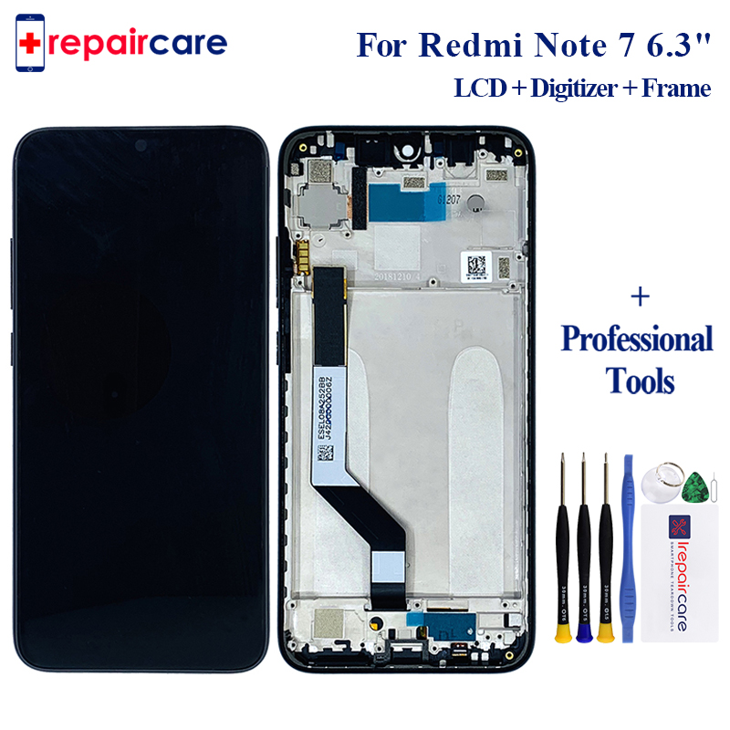 6.3 for Xiaomi Redmi Note 7 LCD Display Touch Screen Digitizer LCD Display + Frame FOR Redmi Note 7 Assembly with Frame