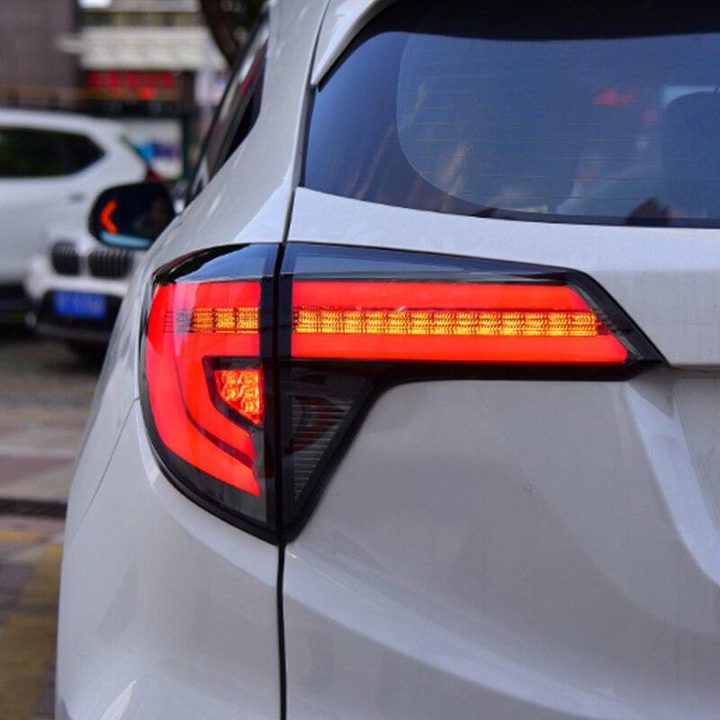 Car Styling For Honda HRV HR-V Vezel 2015 2016 2017 Dynamic Turn Signal Taillight LED Tail Rear Lamp Drive+Brake+Reversing Light
