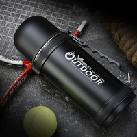 2018 new thermos sport bottle 1000ml stainless steel vacuum flask bottle outdoor travel cup water bottle