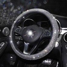 Cubiertas de volante de coche de lujo de cristal para mujer y niña, accesorios para Interior de coche