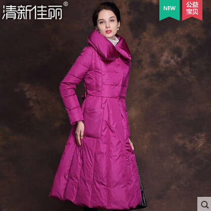 2015 New Hot Winter Thicken Warm Woman down jacket Coat Parkas Outwewear Slim Brand Luxury High-end Long Plus Size 2XXL A word