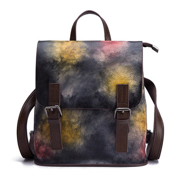 Genuine Leather Fashion Women Backpacks Classic Lady Daily Casual Travel Bag Real Cow Leather Preppy Style Schoolbag Backpack