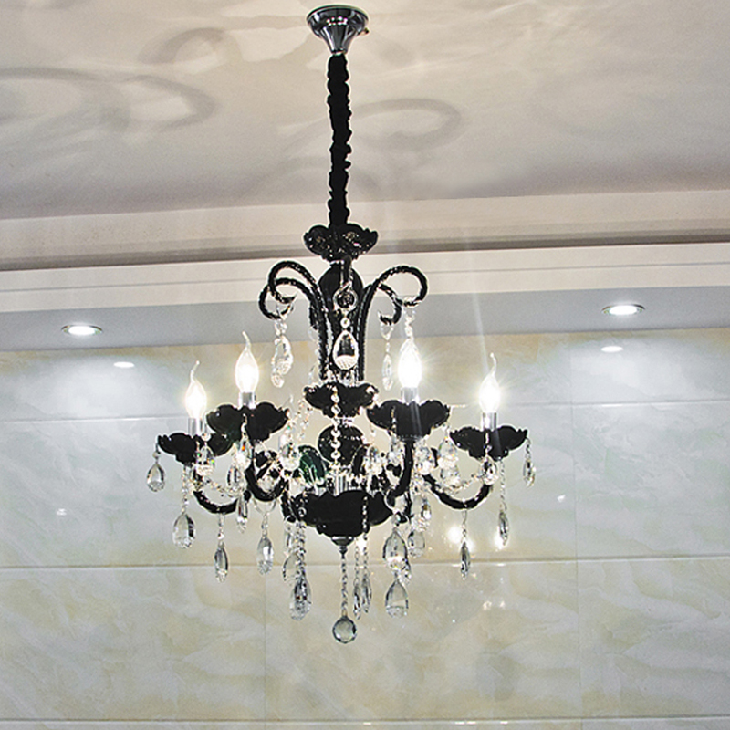 Glass Chandeliers For Dining Room: Kitchen Modern Crystal Chandeliers Light Hanging