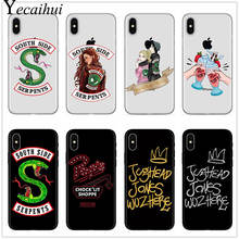 For iphone 7 American Hot TV Riverdale Painted Phone Cover Case For iphone X 8 7 6 6S Plus 5 5S SE XS MAX XR Soft Silicone Cases(China)