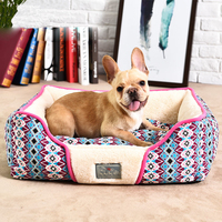 High Quality Classical Pet Mat Fashion Dog House Fleece Warm Kennel Plush Beds Plaid Mat for Cat Puppy Plus Size Large Dog Bed