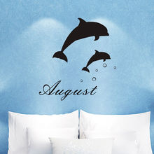 Amazing Custom Made Personalized Name Dolphin Vinyl Wall Sticker Kids Bedroom Decor  Living Room Art Decoration You Choose Name And Color