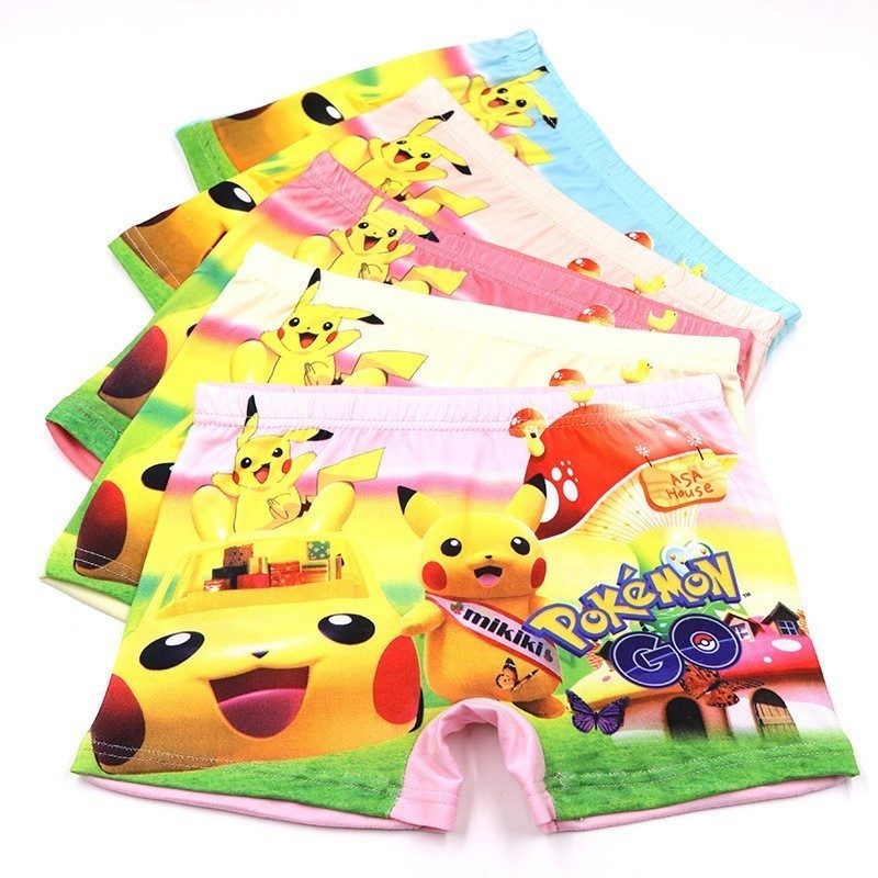4pcs lot New Children Underpants Boxer Infant Silk Cotton Briefs Underwears Panties Boy Cartoon Catamite Panty Baby Girl Clothes in Panties from Mother Kids