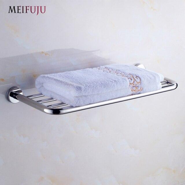 MEIFUJU SUS304 Stainless Steel Bathroom Towel Rack Single Dual ...