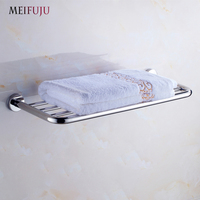 MEIFUJU SUS304 Stainless Steel Bathroom Towel Rack Single Dual Triple Towel Racks Simple Style Towel Shelf Bathroom Shelf MFJ70