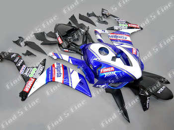 Injection blue white black bodywork for YAMAHA YZFR1  YZF R1 2007-2008 07 08 YZF-R1 2007 2008  ABS motorcycle fairing kit