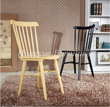 Living room oak wood dining chair set furniture sale