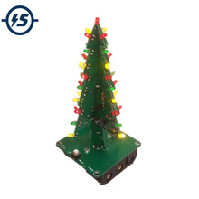Three-Dimensional 3D Tree LED DIY Kit Red/Green/Yellow LED Flash Circuit Parts