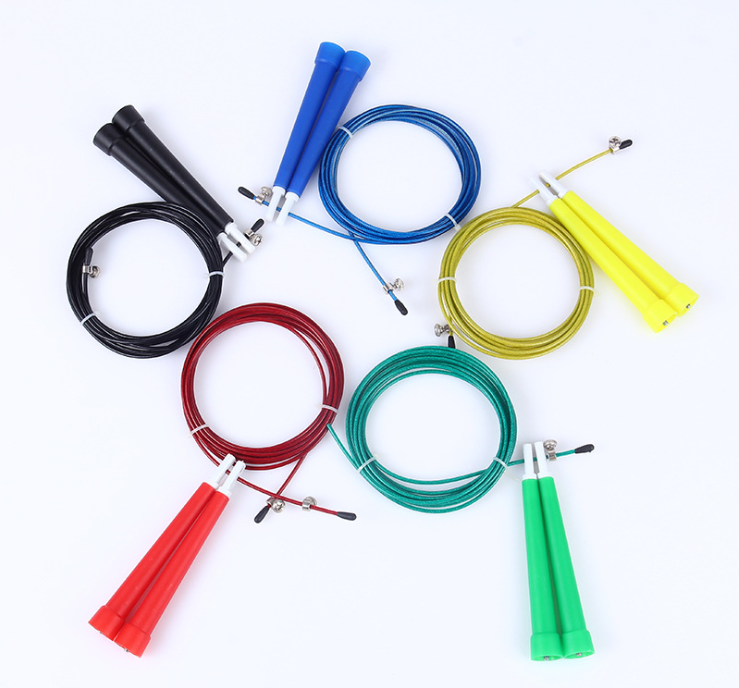 Wholesale 100PCS/Lot 3m Bearing Skip Rope Cord Speed Fitness Aerobic Jumping Exercise Equipment Boxing Skipping Sport Jump Rope