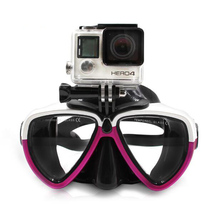 Scuba Diving Mask Goggles Snorkel Swimming Tempered Glasse for GoPro Hero 5, Hero 4 /3/2/1 XiaoYi Action Camera, 9COLOR