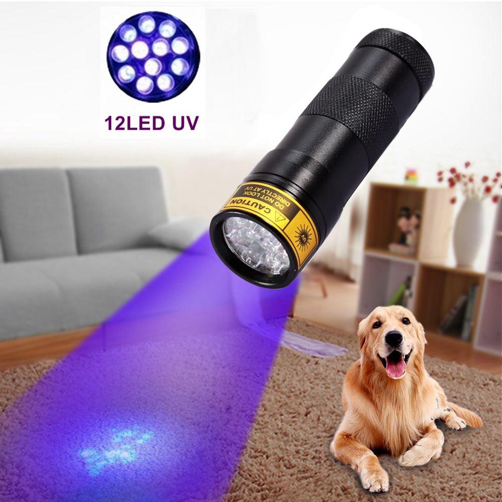Alonefir Aluminiu Invizibil Blacklight Ink Marker 12 LED UVUltra Violet Mini PortableFlashlight Lampa pentru iluminarea torxului AAA acumulator