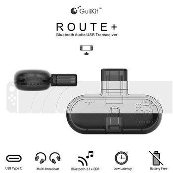 Gulikit Rota + PRO Sem Fio Bluetooth RSE 2.1 + EDR Tipo-C Adaptador USB Transmissor de Áudio Transceptor para Nintendo interruptor