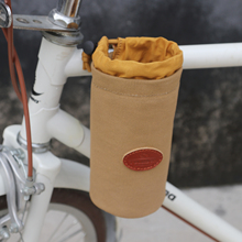 Tourbon Outdoor Bike Water Cup Bag Glass Cell Phone Holder Coffee Beer Pouch Bicycle Storage Canvas Cycling Accessories